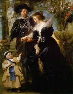 Rubens Rubens his wife Helena Fourment and their son Peter Paul, c.1639 - Peter Paul Rubens