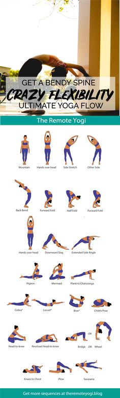 Yoga Flow for a Bendy Spine - FREE PDF - the remote yogi Today, we are getting bendy with this challenging flow to increase mobility and flexibility of the Yoga Flow, My Yoga, Yoga Meditation, Yoga Fitness, Bow Pose, Yoga Posen, Yoga Poses For Beginners, Train Hard, Yoga Routine