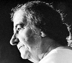 """Golda Meir: """"I can honestly say that I was never affected by the question of the success of an undertaking. If I felt it was the right thing to do, I was for it regardless of the possible outcome."""""""