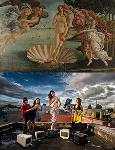 The birth of Venus Parodie
