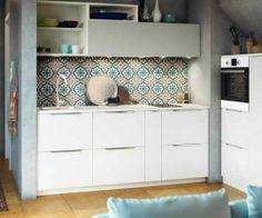 cuisine Ikea crédence en carreaux de ciment