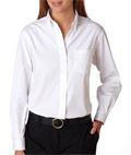 Van Heusen Ladies' Long-Sleeve Blended Pinpoint Oxford: Give them a polished, professional look.