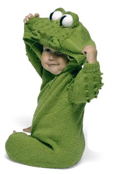 If you can knit...here's a frog suit baby pattern!