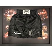 #All Star Signings Mike Tyson Signed and Framed Shorts #Throughout his career, Tyson became well known for his ferocious and intimidating boxing style as well as his controversial behavior both inside and outside the ring. Tyson is considered to have been one of the best heavyweight boxers of all time. He is a former undisputed heavyweight champion of the world and holds the record as the youngest boxer to win the WBC, WBA and IBF world heavyweight titles, he was 20 years, 4 months and 22…