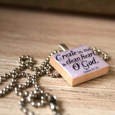 Check out these adorable scripture necklaces, all proceeds go to fund an international adoption!