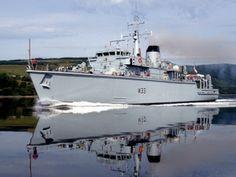 Royal Navy Hunt Class Mine Countermeasures Vessel HMS Brocklesby.