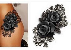 Laced rose hips #TattooIdeasFemale