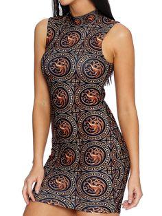 Targaryen High Neck Toastie Dress - LIMITED (AU $100AUD) by Black Milk Clothing