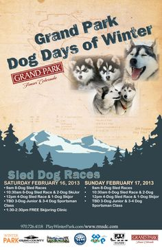 Grand Dog Days of Winter in #WinterPark over Presidents Day Weekend! #Colorado #festival