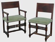 Style Louis XIII - Chaise et fauteuil Louis XIII -  → tournage chapelet → Assise Cloutée (Innovation du style)