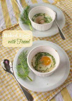 Baked Eggs with Fennel Fronds recipe