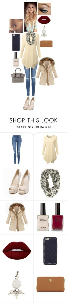 """""""Today or Tomorrow"""" by rachel-cash ❤ liked on Polyvore featuring Topshop, Nly Shoes, Lime Crime, Tory Burch, Alexander Wang and Cuero"""