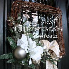 Winter White Christmas wreaths DIY