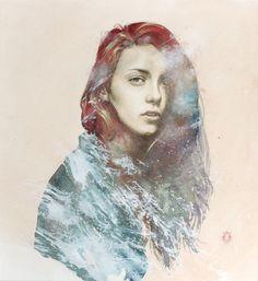 "Saatchi Art Artist: Oriol Angrill Jordà; Paper Painting ""MAGENTA | blendscapes"""