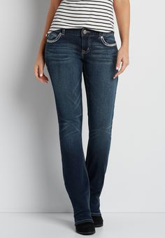 DenimFlex; slim boot jeans with asymmetrical back flap pockets 12S On my wish list #wishpinwinsweepstakes #discovermaurices