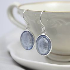 Murano Glass and Silver Oval Earrings from notonthehighstreet.com