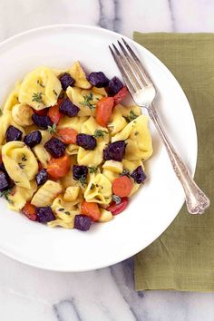 Simple, nutritious, and delicious! Tortellini with Roasted Root Vegetables