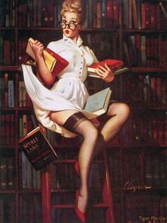 Longing for my days as a college student when I worked in the college library. Books are cool, don't you know.