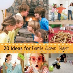 "20 Fun Ideas For Family Game Night...our family has done the ""Panty Hose Polo"" - it is hilarious!!!"