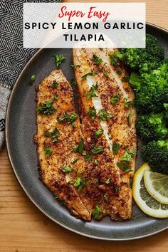This Spicy Lemon Garlic Tilapia from Cooking with Coit is amazing! It makes a great weeknight meal since it is easy and quick to make! #tilapia #fishrecipes #healthydinners Quick Healthy Meals, Healthy Comfort Food, Tilapia Recipes, Fish Recipes, Pan Seared Tilapia, Sauteed Spinach, Lunch Snacks, Garlic Chicken, Cooking With Kids