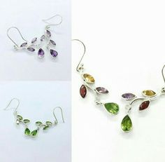 #Earrings#earring#gemstone #gemstonejewelry #america #australia #jaipurjewellerywholesaler #garnet#amethyst #citrin#peridot#unitedkingdom #sterlingsilverjewelry #sterlingsilver #handmadejewellery#jaipur#Rajasthan#india Rajasthan India, Jaipur, Silver Jewellery, Sterling Silver Jewelry, Peridot, Amethyst, Gemstone Earrings, Drop Earrings, Golden Triangle