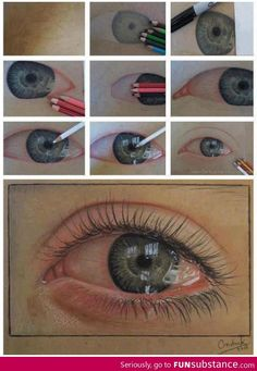 Funny pictures about An ultra-realistic eye drawn using just pencils. Oh, and cool pics about An ultra-realistic eye drawn using just pencils. Also, An ultra-realistic eye drawn using just pencils. Pencil Drawings, Art Drawings, Realistic Eye Drawing, Drawing An Eye, Crying Eye Drawing, Drawing Skills, Drawn Art, Color Pencil Art, Art Graphique