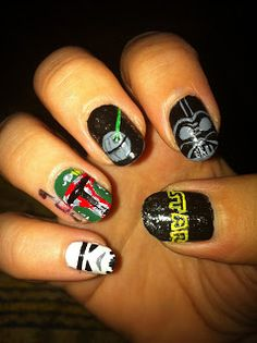 Star Wars Nail Art Dark Side Of The Force Creative Nails Designs
