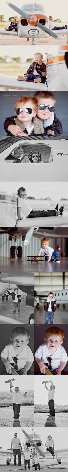 Photo Session Ideas / Child Photography / Airplane / Pilot / Prop Ideas / Pose / Poses