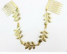 ZH0563 Golden leaves hair comb hair jewelry metal headbands hair accessories chain headband -in Hair Jewelry from Jewelry on Aliexpress.com