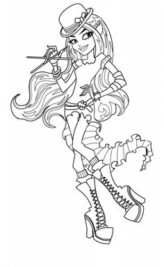 deuce and cleo de nile coloring page   monster high   pinterest ... - Monster High Chibi Coloring Pages