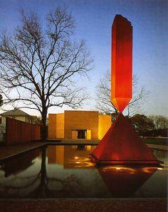 Broken Obelisk (outside of the Rothko Chapel) - Barnett Newman (1963)