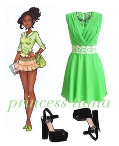"""""""tiana"""" by bethanie-bl ❤ liked on Polyvore"""
