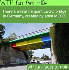 real life giant LEGO bridge in Germany  MORE OF WTF-FUN-FACTS are coming HERE  funny and weird facts ONLY