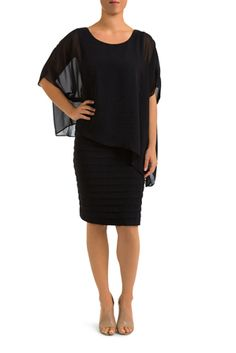 Pingpong Bandage Dress has a Chiffon Overlay that is ideal when you want to look sexy but hide any lumps or bumps for special occasions. Night Out, Peplum Dress, Special Occasion, That Look, Chiffon, Fabric, Black, Dresses, Women