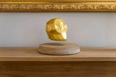 """Ein bisschen teuer für unsere eigenen Wohnung aber dennoch faszinierend!  Saatchi Art Artist Ao Gitsune; Sculpture, """"Ankou Gold (magnetic levitation)"""" #art"""