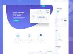 Software Landing Page Design by Shahria Hossain rful page ui ux Website Layout, Web Layout, Page Layout, Design Layouts, Dashboard Design, App Design, Design Color, Mobile Design, Logo Design