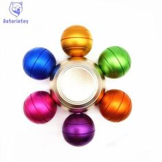 Rainbow Fidget Spinner Hand Spinner Aluminum alloy Spinner Comes With Metal Box