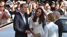 William Catherine are greeted at the Sydney Royal Easter Show by Glenn Dudley, President - Kate & Will 18/04/2014