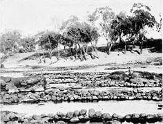 Brewarrina fish traps, Barwon River. RH Mathews 1907