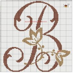 Thrilling Designing Your Own Cross Stitch Embroidery Patterns Ideas. Exhilarating Designing Your Own Cross Stitch Embroidery Patterns Ideas. Monogram Cross Stitch, Cross Stitch Fabric, Cross Stitch Heart, Cross Stitch Alphabet, Cross Stitching, Cross Stitch Embroidery, Alphabet Charts, Beading Patterns, Embroidery Patterns