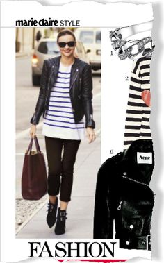 Clipped from Marie Claire using Netpage.  Miranda Kerr style