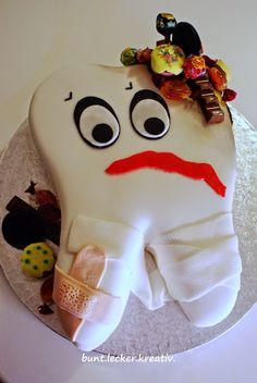 bunt.lecker.kreativ: Eine Torte für den Zahnarzt...