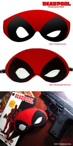 4c9eac4c80bd Designed by me and crafted by Monsterella Plush Art  link  Deadpool  Sleeping Eye Mask
