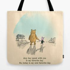 "This says, ""Any day spent with you is my favorite day. So, today is my new favorite day."" Love. :: I Love Being With You tote bag by Budi Satria Kwan"