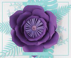PDF Paper Flower Paper Flower Template Big Paper Flower