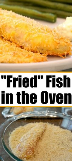 Oven fried fish is crispy and crunchy without deep frying it in oil. Oven fried fish is crispy and crunchy without deep frying it in oil. Baked Catfish Recipes, Baked Walleye, Breaded Fish Recipe, Oven Baked Tilapia, Oven Fried Fish, Walleye Fish Recipes, Fried Fish Recipes, Fried Catfish, Seafood Recipes