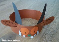fabric crafts diy no sew Gruffalo Headband Gruffalo Eyfs, Gruffalo Activities, Gruffalo Party, The Gruffalo, Kindergarten Activities, Preschool Activities, Activities For Kids, World Book Day Activities, Thanksgiving Crafts For Toddlers