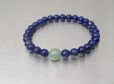 """Summer Lazuli. Our signature #Healing #Lapis with just a dash of #Jade. #FYI -never will you get a Lapis bead that is the same as another, each one is unique, and special, just like all of you, our supporters, our fans, our """"soul"""" existence.."""