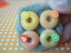 Polymer Clay Charm - Assorted Donuts
