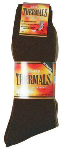 6 Pairs : Mens Black Thermal Warm Winter Socks Octave Textiles. $12.00